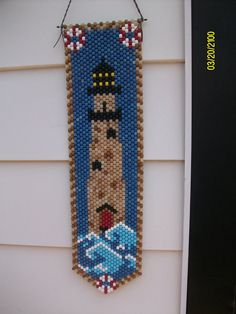 Lighthouse Beaded Banner by CraftingAddiction on Etsy, $18.99