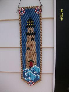 Lighthouse Beaded Banner by CraftingAddiction on Etsy, $18.99