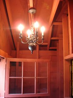 Carriage House chandelier above staircase