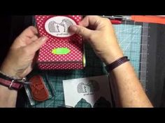 Stampin Up Get Well Tissue Holder - YouTube