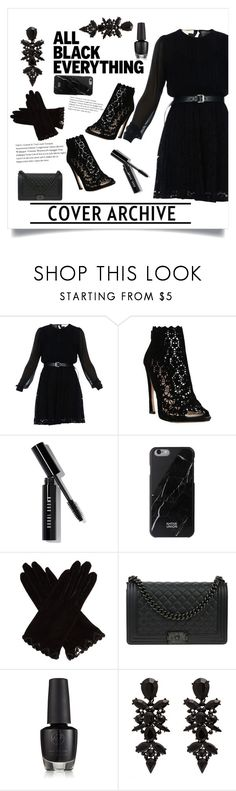 """""""All Black Everything (again)"""" by lucy-hatch123 ❤ liked on Polyvore featuring MICHAEL Michael Kors, Sophia Kah, Bobbi Brown Cosmetics, AGNELLE and Chanel"""