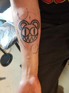 Radiohead Bear by Brandon Mola at Awaken Tattoo (Chicago IL)