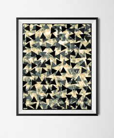 Download Printable Art, Abstract Geometric Poster,Grunge Shapes, Overlapping, Stains,Digital Manipulated, Texture, Triangles, Halftone File, by STRNART on Etsy
