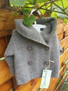 Оrganic baby sweater  knit baby cardigan Sweaters by SimonBaby