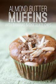 VeganFling: Almond Butter Muffins with Bananas & Chocolate Chips
