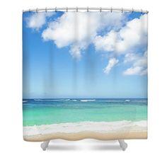 Idyllic Ocean View By Elena Chukhlebova Shower Curtain featuring the photograph Idyllic Ocean View by Elena Chukhlebova #showercurtain #ocean #coastal #bathdecor #elenachukhlebova