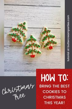 Easy Christmas Cookies Decorating, Cute Christmas Cookies, Cookie Decorating Party, Christmas Sweets, Holiday Cookies, Rustic Christmas, Decorated Christmas Cookies, Diy Christmas, Buttercream Decorating