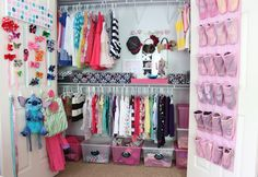 Great tips for your little girl's closet to stay organized, and simplify your life!