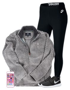 """""""Got out of school today Bc of snow!! Yay❄️❄️"""" by savanahe ❤ liked on Polyvore featuring NIKE, Apple, women's clothing, women, female, woman, misses and juniors"""