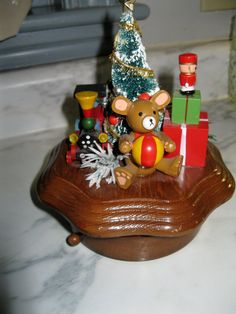Schmid 1986 Wooden Musical Christmas box by WishbookChristmas