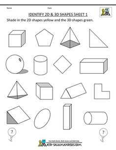 How to draw 3d simple geometric shapes drawing and coloring for here you will find our selection of first grade geometry worksheets for kids there are a range of worksheets to help children identify and name and shapes ccuart Image collections
