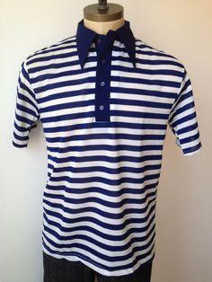Vintage MENS 1960s Wrangler blue & white striped by pandaJpanda, $16.00