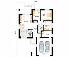 Kiwi 4 projekt domu - Jesteśmy AUTOREM - DOMY w Stylu Bungalow House Design, New House Plans, Planer, New Homes, Floor Plans, Cottage, Flooring, How To Plan, Architects