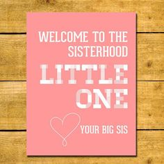 Sorority Little Sister Print -  Perfect Printable Gift for Your Little Sister! Sorority Big Little Gift - INSTANT DOWNLOAD!