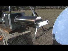 ‪STIRLING ENGINE SOLAR POWER PARABOLIC MIRROR ELECTRIC GENERATOR‬‏ - YouTube
