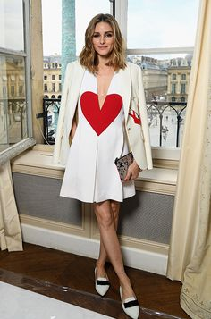 Olivia Palermo wearing GALA out and about during Paris Fashion Week