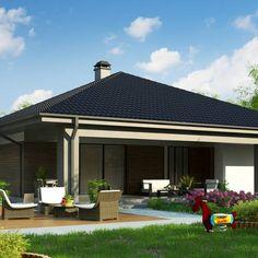 Z344 to wyjątkowy dom z kategorii projekty domów parterowych New House Plans, Design Case, New Homes, Outdoor Decor, Small Houses, Sheds, Home Decor, Model, Country Houses