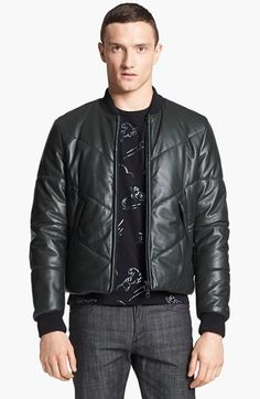 Kenzo Quilted Leather Bomber Jacket