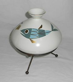 VINTAGE METLOX TROPICANA FISH RARE Chafing Dish MID CENTURY MODERN EAMES ATOMIC