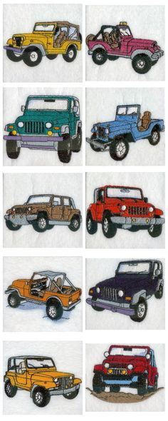 Jeeps Embroidery Machine Design Details (T-shirts for Grandpa)