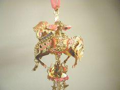 Kirks Folly Retired Fairy Go Round Carousel Wind chime, Gold Rare  #kf