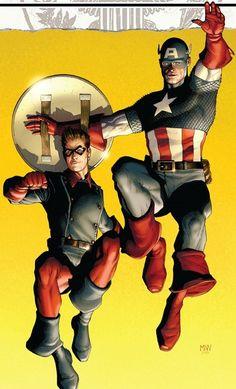 Bucky Barnes and Captain America Comic Book Characters, Comic Book Heroes, Marvel Characters, Comic Character, Comic Books Art, Comic Art, Ms Marvel, Marvel Comics Art, Marvel Heroes