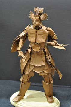 Mahoraga, by Hojyo Takashi Paper Crafts Origami, Oragami, Diy Paper, Modular Origami, Origami Art, Paper Structure, Paper People, Paper Flowers Diy, Dark Fantasy Art