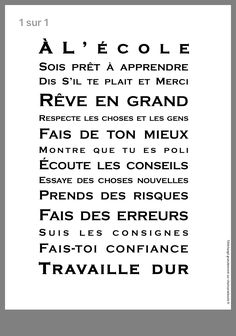 Discover recipes, home ideas, style inspiration and other ideas to try. French Teaching Resources, Teaching French, Teaching Tools, Inspirational Classroom Posters, Inspirational Quotes, High School French, School Organisation, Education Positive, Kids Education