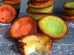 Queijadas are custardy, sweet, and creamy Portuguese cupcakes with golden brown edges. If you like custardy desserts, you will love these! Fun Desserts, Dessert Recipes, Fried Pies, Portuguese Recipes, Portuguese Food, Hand Pies, Something Sweet, Custard, Great Recipes