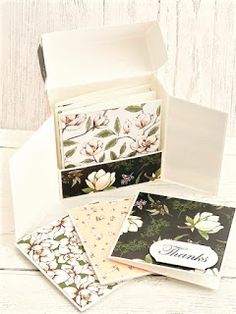 Mini Note Cards Set Handmade Scrapbooking Gift Giving Just Because Birthday Six Cards and Envelopes