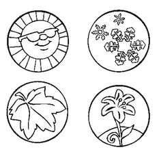 imagenes de las estaciones para pintar