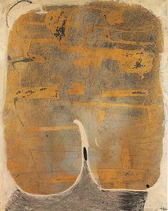 Antoni Tàpies (Catalan/Spanish, 1923-2012), Painting n. 27, 1955. Oil and varnish on canvas.via mondialchaos