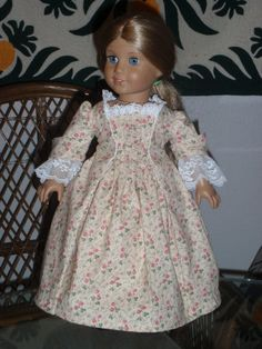 1770s Colonial Sacque Back Gown Dress for by alohagirldollclothes, $50.00