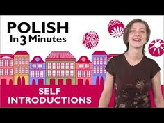 ▶ Learn to Speak Polish Lesson 1 - How to Introduce Yourself in Polish - YouTube