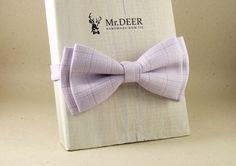 Light Purple Bow Tie  Ready Tied Bow Tie  Adult by MrDEERbowtie