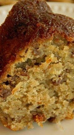Grandgirl's Apple Cake ~ This is one of the best Fall cakes ever! It's filled with shredded apples, coconut,and then soaked in a wonderful sweetened buttermilk sauce! by JoanSmith