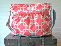 A personal favorite from my Etsy shop https://www.etsy.com/listing/232827957/coral-chainlink-large-diaper-bag