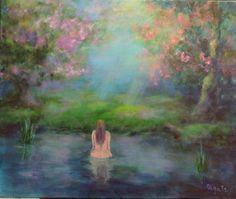 Beautiful Fairy Forest Intuitive art Women nude by OlgaTsyhypkoArt