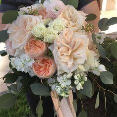 Peach, blush and cream Brides Bouquet-Garden Gate Florals