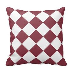 Dark Red Diamond Pattern Pillow This design features a dark red diamond pattern on the front and back. Great for any room that needs this color for an pillow décor. Check out my store for more colors available with this pattern and on other products.