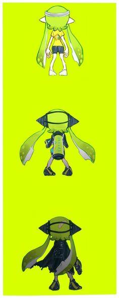 Splatoon The evolution of Agent 3 Splatoon Memes, Nintendo Splatoon, Splatoon 2 Art, Splatoon Comics, Super Smash Bros, Otaku, Animal Crossing, Game Art, Video Games