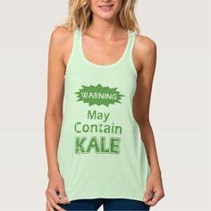 Funny Kale Womens Flowy Racerback Tank Top Tank Tops