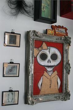 Sugar Skull Painting - Love All. Skull Decor, Skull Art, Memento Mori, Hm Deco, Mexican Design, Skull Painting, Skull And Bones, Macabre, Dark Art