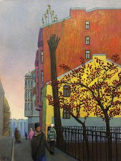 Ruben Monakhov. Late Autumn. Oil on canvas, 60х45 cm.,  2016.  http://rubenm.spb.ru  #painting #живопись