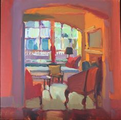 ◇ Artful Interiors ◇ paintings of beautiful rooms - connie hayes whimsea interior