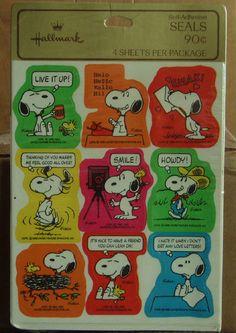 Peanuts Snoopy Vintage Hallmark Sticker Sheets Sealed