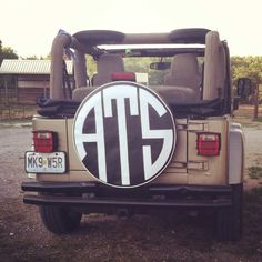 Jeep monogram done right. Not too girly (aka not girly enough to get run off the road). But still personalized. :)