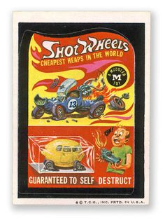 Topps Wacky Packages  5th Series 1973/4 SHOT WHEELS