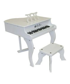 Take a look at this White 37-Key Elite Baby Grand by Schoenhut on #zulily today!