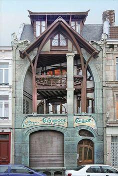 Architecture Design, Architecture Art Nouveau, Beautiful Architecture, Beautiful Buildings, Building Architecture, Ancient Architecture, Art Deco, Design Art Nouveau, Art Nouveau Interior